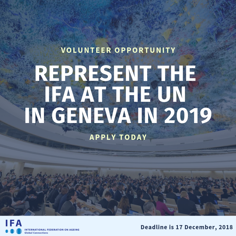 Advocate for the rights of older persons at the United Nations in Geneva