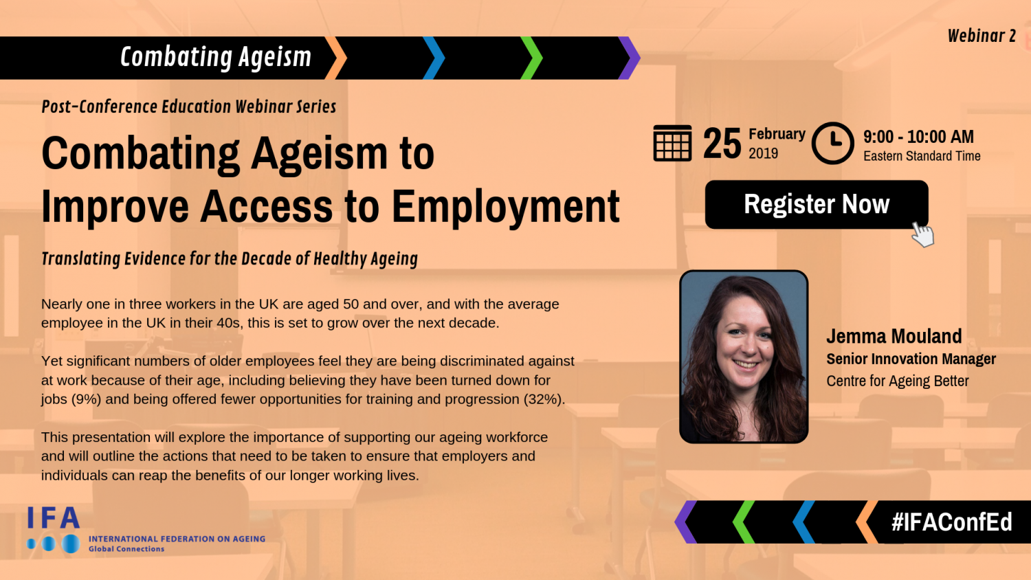 Webinar Announcement: Combating Ageism to Improve Access to Employment