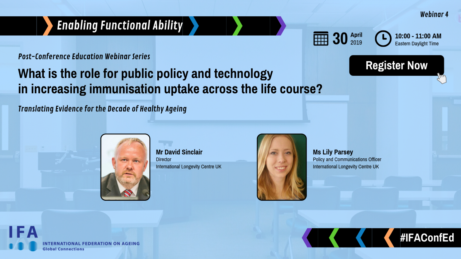 Webinar Announcement: What is the role for public policy and technology in increasing immunisation uptake across the life course?