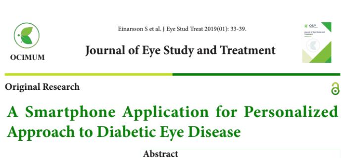 Retina Risk App: Innovative solutions to prevent