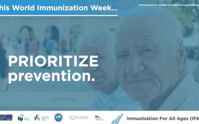 Promoting immunisation throughout life – World Immunisation Week