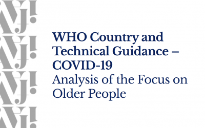 WHO Country and Technical Guidance – COVID-19: Analysis of the Focus on Older People