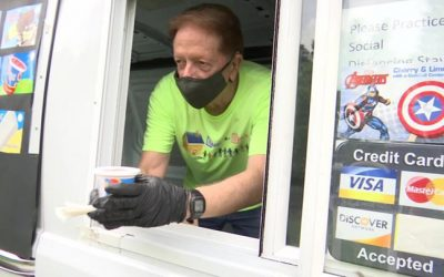 A pastor celebrated his 73rd birthday by driving an ice cream truck and handing out free treats