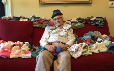 86-year-old man teaches himself to knit so he can give 300 hats to premature babies