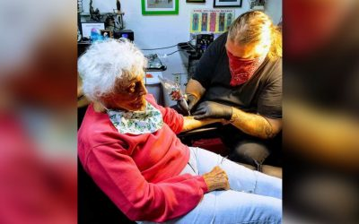 A 103-year-old woman got her first tattoo to cross it off her bucket list