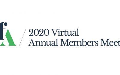 Announcement: 2020 Virtual Annual Members Meeting