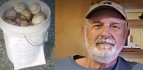 Grandpa Leaves a Free Bucket of Baseballs With Touching Note About Cherishing Your Family
