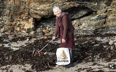 Pat Smith, 70, spends an entire year clearing plastic off 52 British beaches after making a New Year's resolution to clean one week