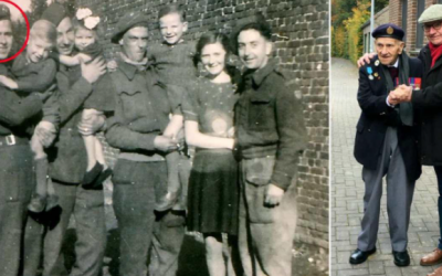 98-Year-old D-Day Veteran Recreates Photo With Belgian Boy Who Befriended Him During WWII