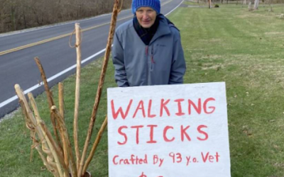 A 93-Year-old Veteran Whittling Walking Sticks Has Raised $16,000 For Food Pantry