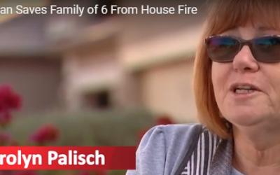 Watch Arizona Woman Frantically Pounding on Door to Save Family From Fire Just Before Roof Collapses